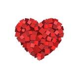 Pappers- hjärta stock illustrationer