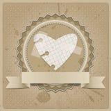 Pappers- hjärta Royaltyfri Foto