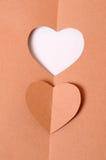 Pappers- hjärta Arkivfoto
