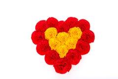 Pappers- hjärta av blommor för dag för valentin` s Royaltyfri Fotografi