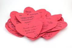 Pappers- hjärta med känsla Arkivbilder