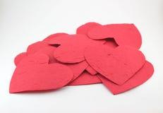 Pappers- hjärta med känsla Royaltyfria Foton