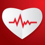 Pappers- hjärta och puls Arkivbild