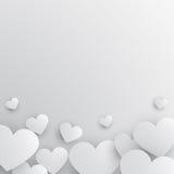 Pappers- hjärtabakgrund Royaltyfri Foto