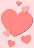 Pappers- hjärtabakgrund för valentin vektor illustrationer