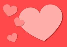 Pappers- hjärtabakgrund för valentin Royaltyfri Fotografi