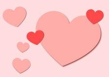 Pappers- hjärtabakgrund för valentin Arkivbilder