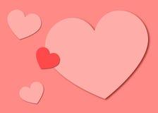 Pappers- hjärtabakgrund för valentin Arkivfoto