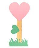 Pappers- hjärtablommasymbol av förälskelse Royaltyfri Bild