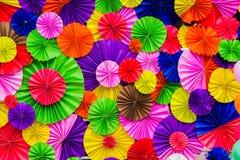 Pappers- hopfällbart mångfärgat Arkivbilder