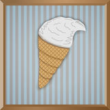 Pappers- icecream Arkivbild