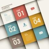 Pappers- infographics för abstrakt origami 3d Fotografering för Bildbyråer