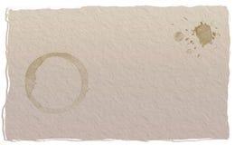 Pappers- kaffefläck Arkivbilder