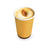 Pappers- kaffekoppar royaltyfria foton