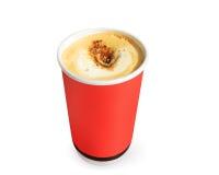 Pappers- kaffekoppar Arkivbild