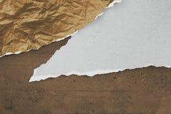Pappers- konstcollage, baner, bakgrund royaltyfri illustrationer