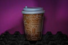 Pappers- kopp fotografering för bildbyråer