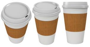 Pappers- kopp för kaffe royaltyfri illustrationer