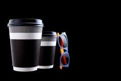 Pappers- kopp kaffe eller te royaltyfria foton