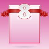 Pappers- kort eps 10 för kvinnadag8 marsch Royaltyfria Foton