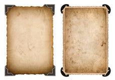 Pappers- kort för gammalt foto med den Retro ramen för hörn och för kanter Royaltyfria Bilder