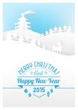 Pappers- kort för jul Royaltyfri Fotografi
