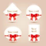 Pappers- kort för jul för din design. Royaltyfri Fotografi