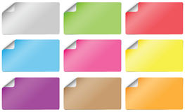 Pappers- kort för klistermärke Arkivbilder
