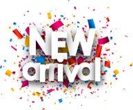 Pappers- kort för ny ankomst royaltyfri illustrationer