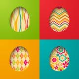 Pappers- kort för påsk med ägget Arkivbilder