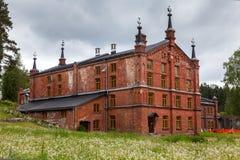 Pappers- mala museet Werla (Verla) finland Arkivbild