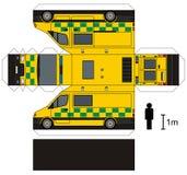 Pappers- modell av en ambulans Fotografering för Bildbyråer