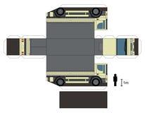 Pappers- modell av en lastbil Royaltyfri Bild
