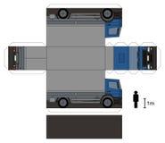 Pappers- modell av en lastbil Royaltyfria Foton