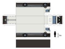 Pappers- modell av en lastbil Arkivbilder