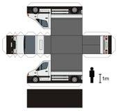 Pappers- modell av en liten lastbil Royaltyfria Bilder