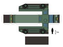 Pappers- modell av en militär lastbil Royaltyfri Fotografi