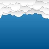 Pappers- molnbakgrund Arkivbild