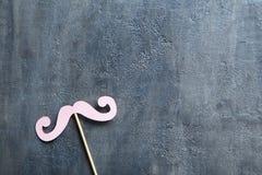 Pappers- mustasch Arkivbild