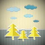 Pappers- naturpappbakgrund Fotografering för Bildbyråer