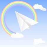Pappers- nivå i himlen stock illustrationer