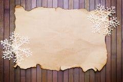 Pappers- och dekorativa snowflakes Royaltyfri Bild