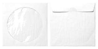 Pappers- påsar för CD Arkivfoto