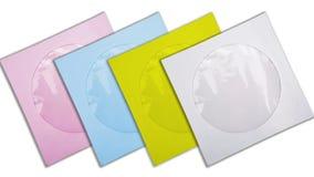 Pappers- påsar för CD Royaltyfri Fotografi