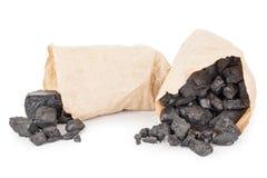 Pappers- påsar med kol arkivbilder