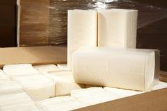 Pappers- packade servetter och handdukar Royaltyfria Foton