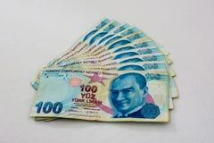 Pappers- pengar av försök 100 Royaltyfri Bild