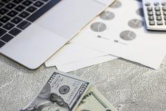 Pappers- pengar för Förenta staterna Royaltyfri Fotografi