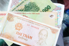Pappers- pengar för Vietnam dong banonote Royaltyfri Foto