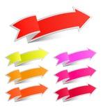 Pappers- pilklistermärkear Arkivbild